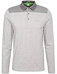 Hugo Boss Polo Deluxe Manga Larga (Gris b1a04ff939af7