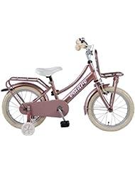 Vélo Enfant Fille 16 Pouces Excellent Frein Avant sur Le Guidon et Le Frein Arrière à Rétropédalage Rose Antique 95% Assemblé