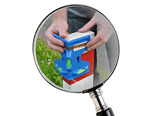 Winkelwasserwaage 135 mm mit drei Libellen und 4 Magnetstreifen