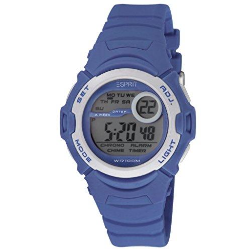 Esprit ES906464004 ESPRIT-TP90646 Uhr Junge Kinderuhr Kunststoff Kunststoff 3 bar Digital Datum Licht Alarm Timer Blau
