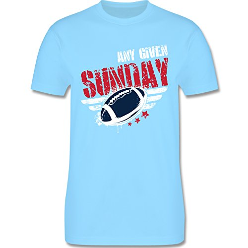 Shirtracer American Football - any Given Sunday Football New England - Herren T-Shirt Rundhals Hellblau