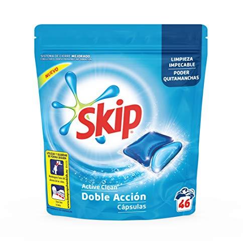Skip Active Clean Detergente Cápsulas para Lavadora - Paquete de 4 x 46 lavados - 184 lavados