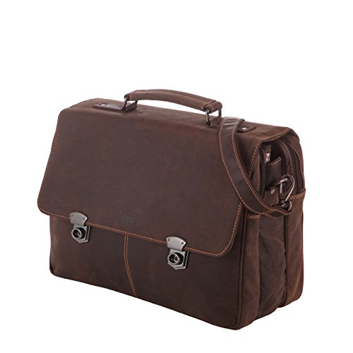 Rada Nature Aktentasche 'Adelaide' echt Leder Laptoptasche in verschiedenen Farben (khaki) (Leder Adelaide)