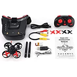 Nowakk Gafas Mini, Gafas RC, Receptor RC, Gafas FPV, Gafas para Auriculares, Gafas para RC Racing Drone, Drone RC Racing, Drone con Goggles, Mini Drone RC Racing