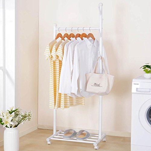 Panet Einfache Garderobe Bodengarderobe Schlafzimmer Garderobe Regal Einpoligen Haushalt Trockengestelle 50cm Farbe Weiss
