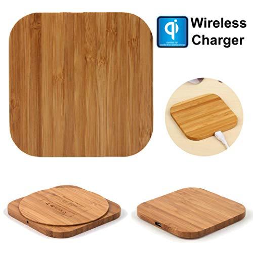 Wireless Charger TAOtTAO Qi-drahtlose Ladegerät-dünne hölzerne Auflage-Ladematte für Samsungs-Galaxie-Anmerkung 9