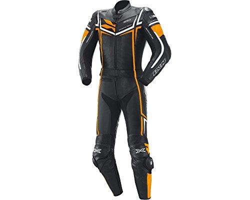 Preisvergleich Produktbild Kombi aus Rindsleder IXS RAY schwarz-orange-weiß Gr.98