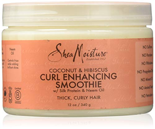 Shea Moisture Coconut und Hibiscus Curl Enhancing Smoothie, 1er Pack (1 x 340 g) (Shampoo Safe All Natural Color)