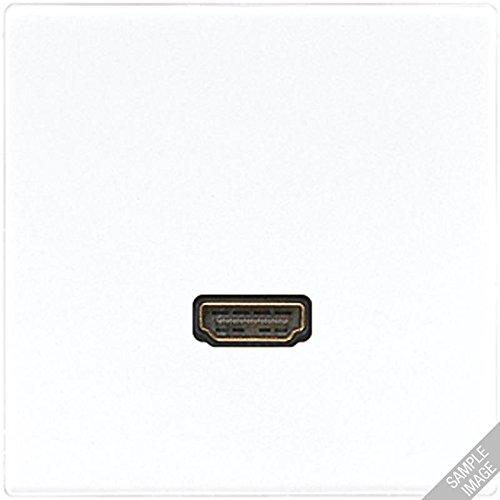 JUNG - PLACA HDMI BLANCO MARFIL PARA SERIE LS