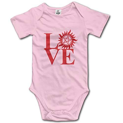 Louis Berry Liebe übernatürliche rotes Logo, Baby Kurzarm Strampler Infant Bodysuit Neugeborenen Overall Strampler Bunny Infant Bodysuit