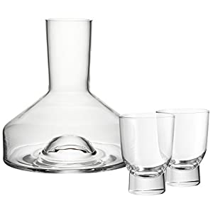WMF 917539990 Taverno Decanting Carafe with 2 Glasses, Transparent, 31 x 21.5 x 21.2 cm 3 Units