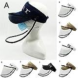 FASFSAF Adulti Anti-Spitting Maschera di Cappucci di Protezione Staccabile Anti-Fog Hat Antipolvere Sun Berretto da Baseball,A