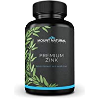 Premium Zink 365 Tabletten - Jahresvorrat. Hoch bioverfügbares Zink-Bisglycinat Chelat mit L-Histidin verbessert. Laborgeprüft. Ohne Zusatzstoffe. Hochdosiert, vegan aus Deutschland, Testsieger 2018