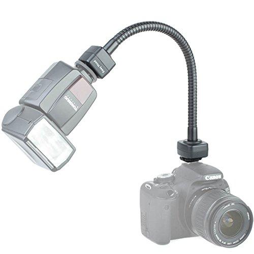 Easy Hood Flexibler 34 cm TTL-Schwanenhals für Canon-Systemblitz an Canon-EOS-Blitzschuh - auch für manuelle Blitze und Nicht-Canon-Kameras - vereint Blitzschiene und TTL-Blitzkabel