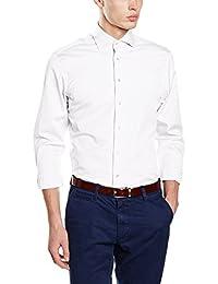 Hackett London Hkt Poplin Classic Bc, Camisa para Hombre