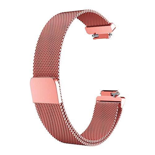 Knowin Uhrenarmband Unisex Edelstahl Armband Optionale Farbe 2 Größen Milan Gurt Milanese Edelstahl Uhrenarmband Armband für Fitbit Inspire/Inspire (groß)