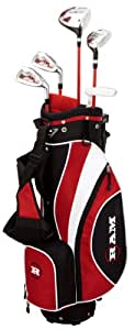 Ram FX Max Set de clubs de golf Garçon (6-8 ans) Fibre de carbone Tige régulière Rouge Pour droitier