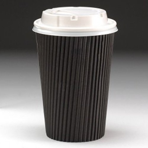 100-x-black-kraft-12oz-ripple-and-white-lids-3-ply-disposable-insulated-paper-cups-for-tea-coffee-ca