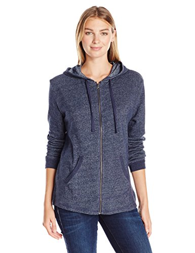 Hanes Women's French Terry Full-Zip Hoodie, Navy Heather, Large