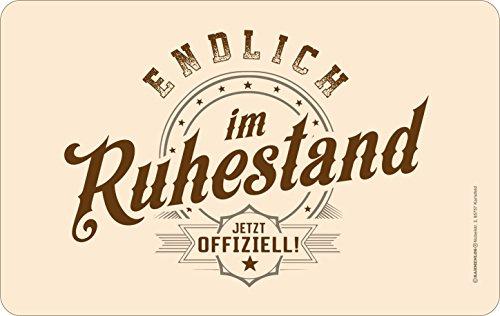 Original RAHMENLOS® Frühstücksbrettchen Schneidbrettchen: Im Ruhestand - jetzt offiziell