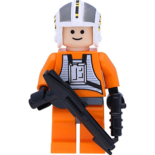 Lego Star Wars™ Minifigur Wedge Antilles (X-Wing Pilot) mit GALAXYARMS Waffen (Star 6212)