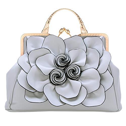 TIFIY Damen Rucksack Damenmode Umhängetasche Rose Lady Handtasche Kosmetiktasche Arbeits Täglich Bankett Elegant Tasche(Grau)