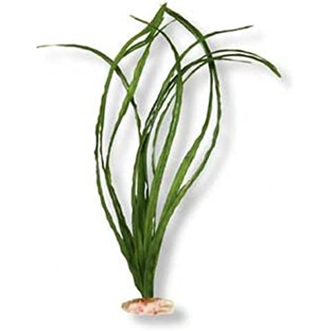 Vibran-Sea Narrow Eel Grass Silk-Style Aquarium Plant, Extra-Large 18-19 tall, Green by Blue Ribbon