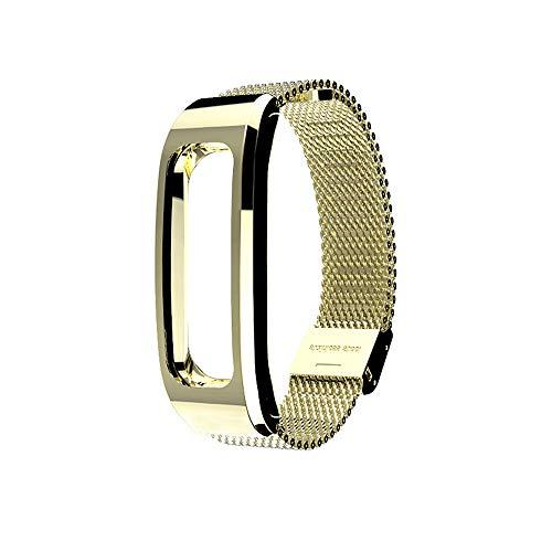 für Huawei Honor Running Band 4 Uhrenarmband,Hongtianyuan Metallarmband Ersatzarmbänder Ersatzarmband Erweiterbar Armband für Huawei Honor Running Band 4 (Gold) - Herren-erweiterbar-uhr Bänder