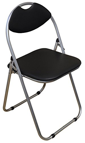 Harbour Housewares Black Padded, Folding, Desk Chair – Pack of 6