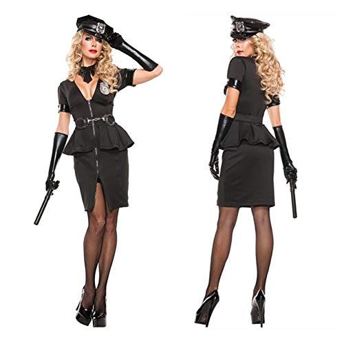Auf Patrouille Kind Kostüm - YTWF Kostüme für Erwachsene - Halloween Polizistin Stage Game Uniform Cosplay Partei Polizeiuniform,M