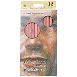 KINTRADE 12Pcs lápices Profesionales en Colores Pastel Suaves Tinte de Piel de Madera Lápiz de Colores Pastel