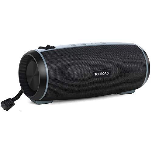 TWS Bluetooth-Lautsprecher, 10 W, tragbar, kabellos, 360°°-Surround-Sound, verbesserter Bass, unterstützt FM-Radio, integriertes Mikrofon, TF-Karte für Zuhause, Party, Telefon, Computer