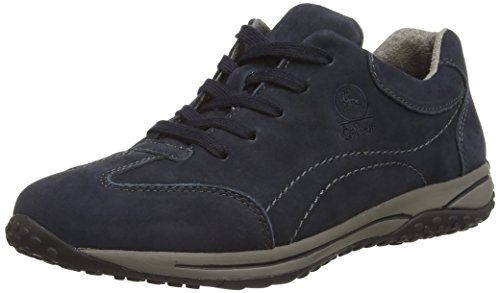 Gabor  Geno,  Damen Sneakers , Blau - Dark Blue (Dark Blue Nubuck) - Gr. 40 EU / 6.5 UK