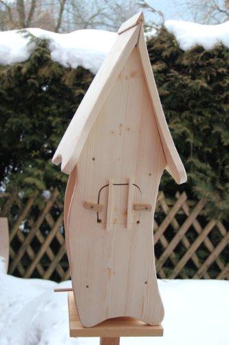 Dekorativer XXXL Nistkasten(N4) mit Vogelfutterhaus-Vogelhaus–Vogelhäuschen-sauberste Verarbeitung-Vogelhaus Garten Deko - 5