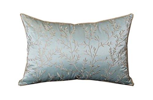 Pastoralen blau bestickt Nacht Sofa Kissen Kissen Kissenkern mit amerikanischen Kissen ( größe : 40*60cm )