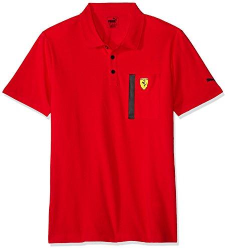 Puma 2017 Ferrari SF Polo Football Soccer T-Shirt Trikot (Rosso Corsa)