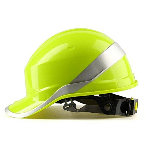 MASUNN Diamond V Duro Sombreros Seguridad Trabajo 8 Punto Ventilado Construcción Trinquete Cascos Nuevo-Amarillo