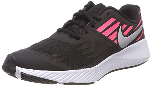 Nike Damen Star Runner (gs) Laufschuhe, Mehrfarbig (Black/Metallic Silver/Racer Pink/Volt 004), 37.5 EU -