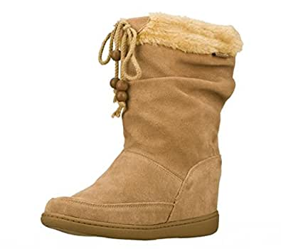 Skechers Women's Plus 3-Pyramids Wedge Boots, Mushroom, 11 B US