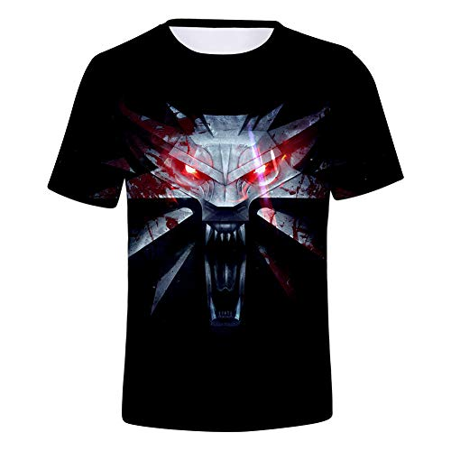 SUNCHTX Unisex para Hombre De Manga Corta De Hombre Blusas De Verano Slim Fit Running Camiseta 3D The Witcher XL