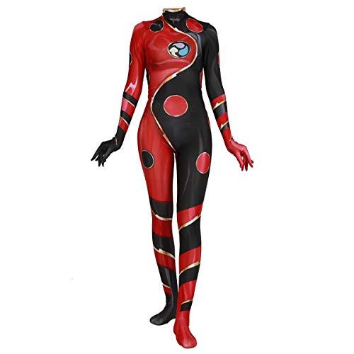 QQWE Erwachsene Kinder Kostüm Kleidung Weihnachten Halloween Kleidung Dragon Bug Cosplay Bodysuit Overalls,Red-L