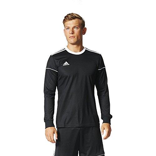 Adidas squad 17 jsy ls, t-shirt a manica lunga uomo, black/white, 2xl