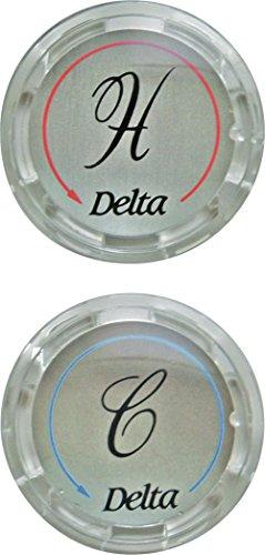 Delta robinet Rp19659 Ensemble de deux boutons pour Effacer Poignées