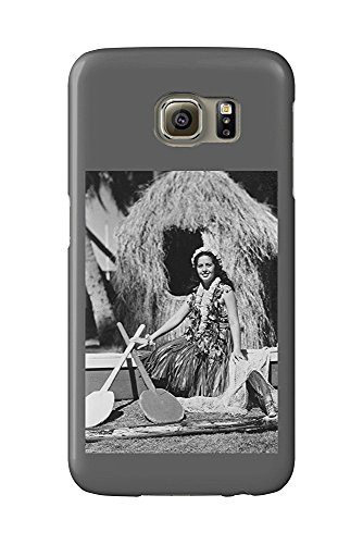 Hula Girl with Outrigger Canoe Hawaii Photograph (Galaxy S6 Cell Phone Case, Slim Barely There) - Hawaii Outrigger Canoe