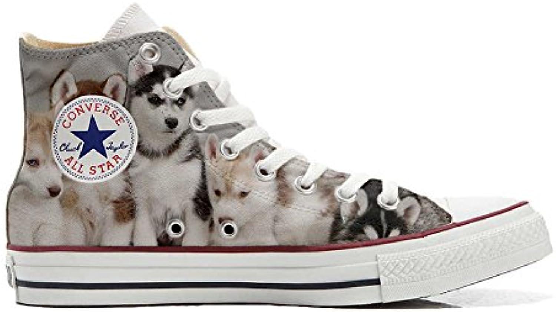 Converse All Star Personalisierte Schuhe (Custom Produkt) Puppies Husk