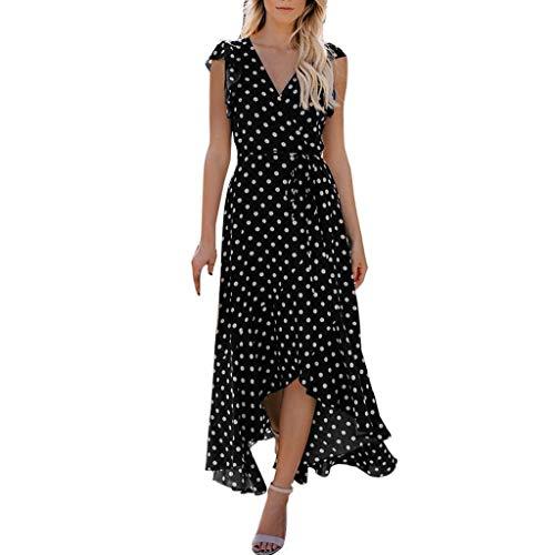 er Damen Maxi Kleid Off Shoulder Abendkleid Strandkleid Party Schulter Kleider Schulterfrei Strand Spielanzug Boho ()