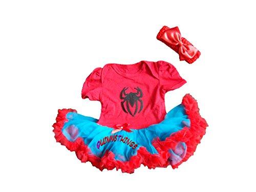Spidergirl 3-6 Monate Baby Kleinkind Mädchen Spielanzug Party Spiel Kleid (Outfit Kleinkind Spiderman)