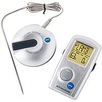 Ultranatura Termómetro de Cocina Digital con Sonda y Aviso Acústico TM-50, Termómetro de Carne Inalámbrico y Programable, Aprox. 15 x 15 x 5 cm