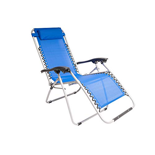 GATE14 Chaise longue inclinable total relax Bleu clair