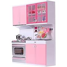 toymytoy cuisine de poupe en plastique jeux dimitation de cuisine pour enfants rose - Cuisine Barbie